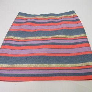 J. Crew Striped Skirt Size 2